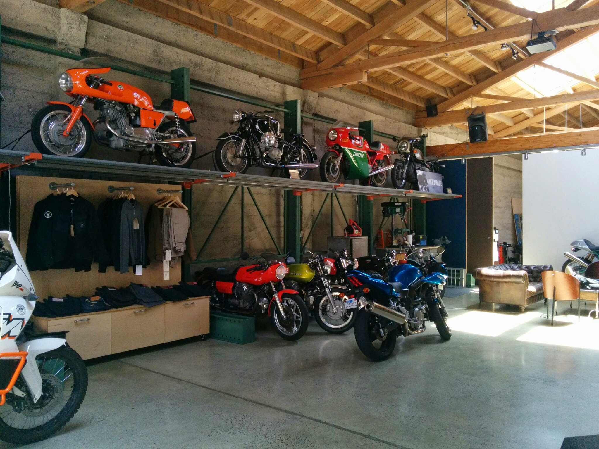 Piston and Chain Motorcycle Club Interior