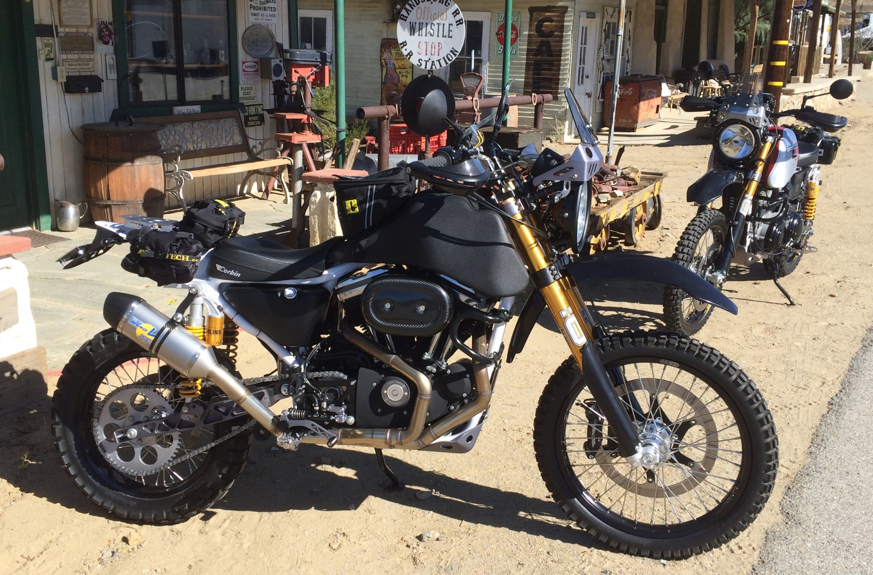 Two SC3 Adv Dual Sports in the Mojave Desert. Photo by Jim Carducci.