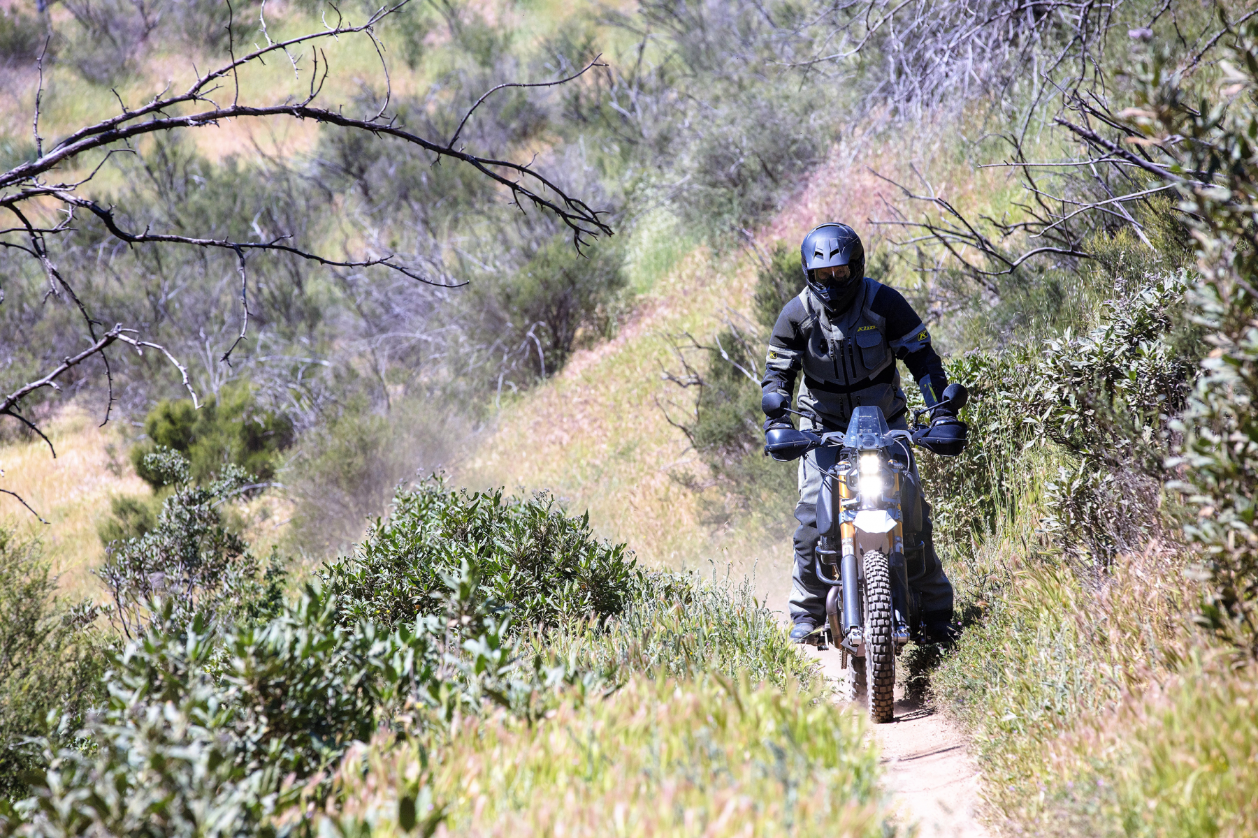 Jim Carducci on his SC3 Adventure on a single track trail