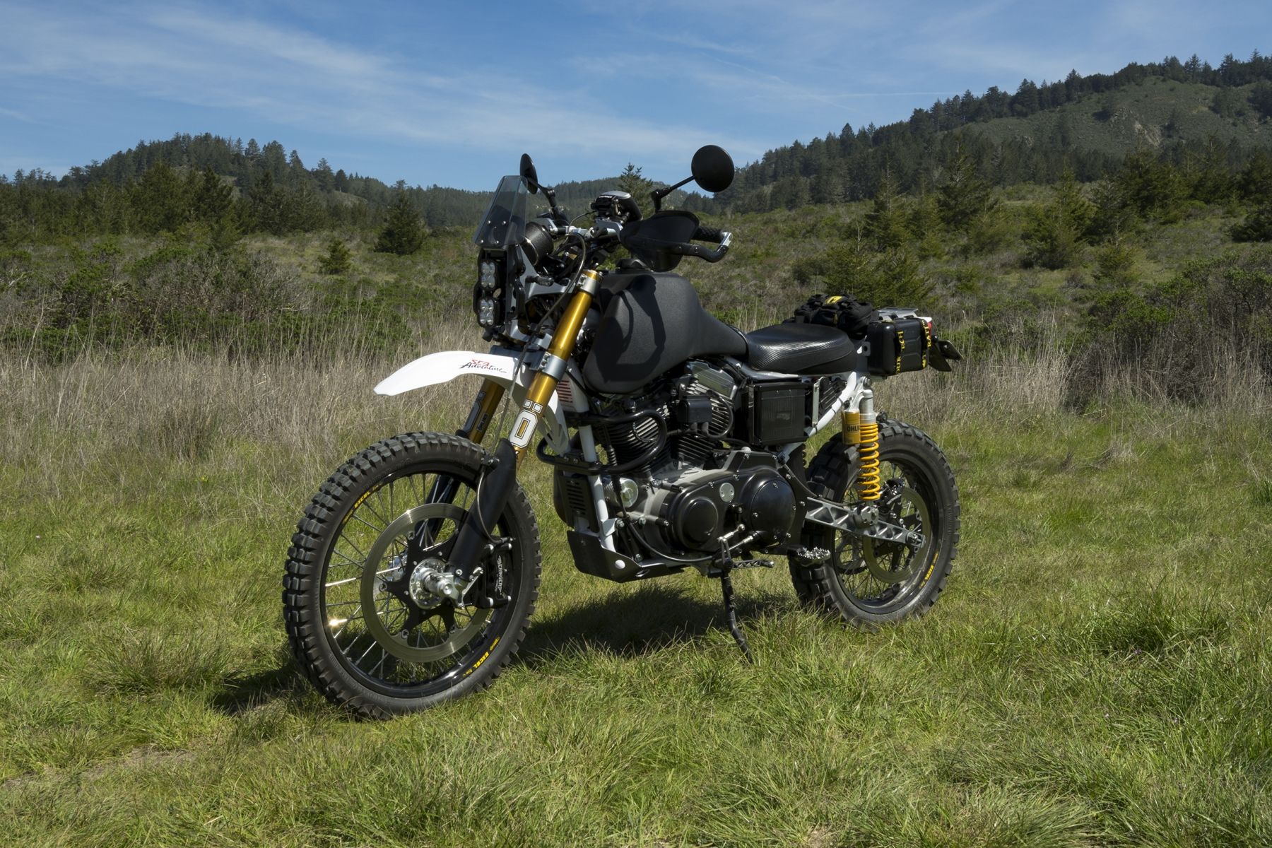 SC3 Adventure Dual Sport Motorcycle Off White Road