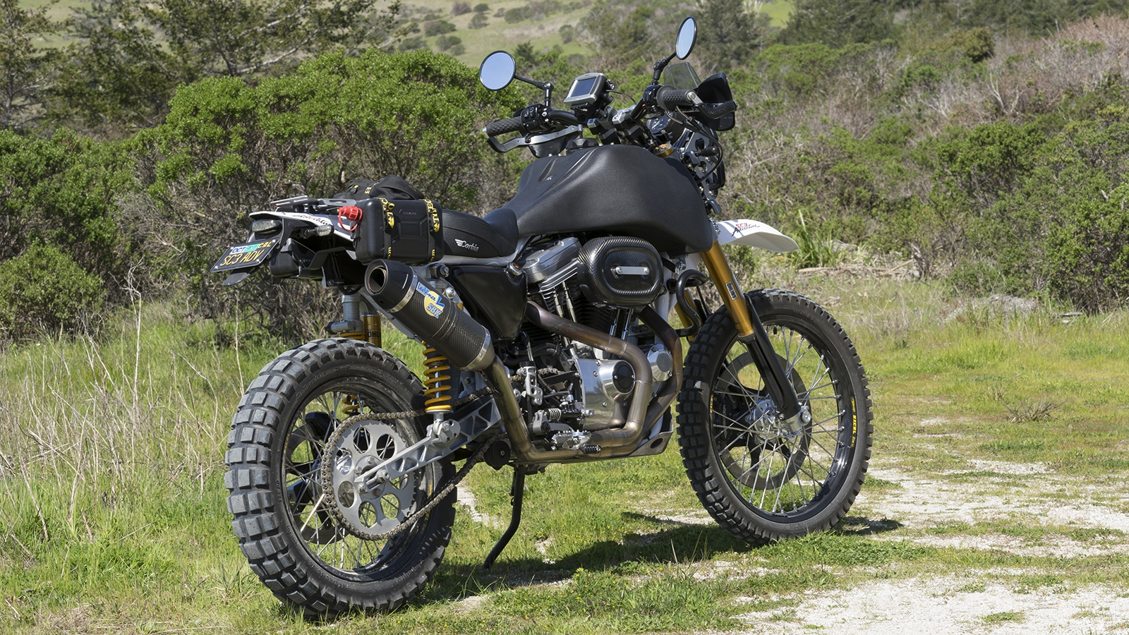 SC3 Adventure Dual Sport Motorcycle Off Whitehouse Road RHS. Photo by Sherry Cordova